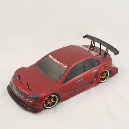 Радиоуправляемый автомобиль для дрифта  HSP Flying Fish 1 - 1:10 4WD - 2.4G Мерседес, красный (36 см)
